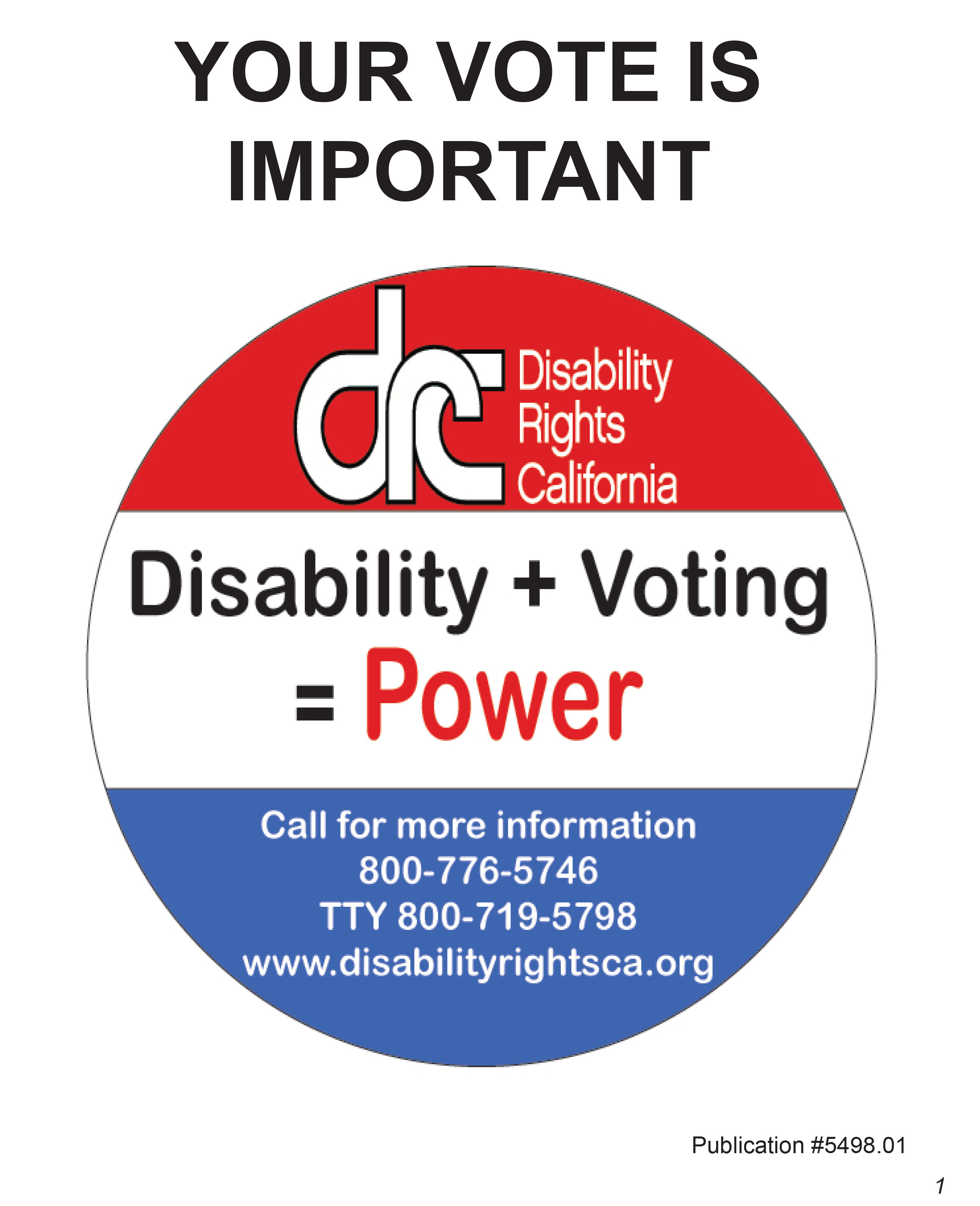 Disability Rights Matter - Disability Vote