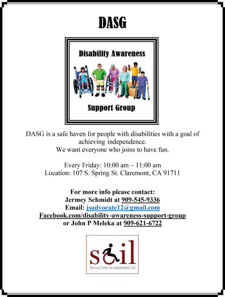 Disability Awareness Support Group - groups