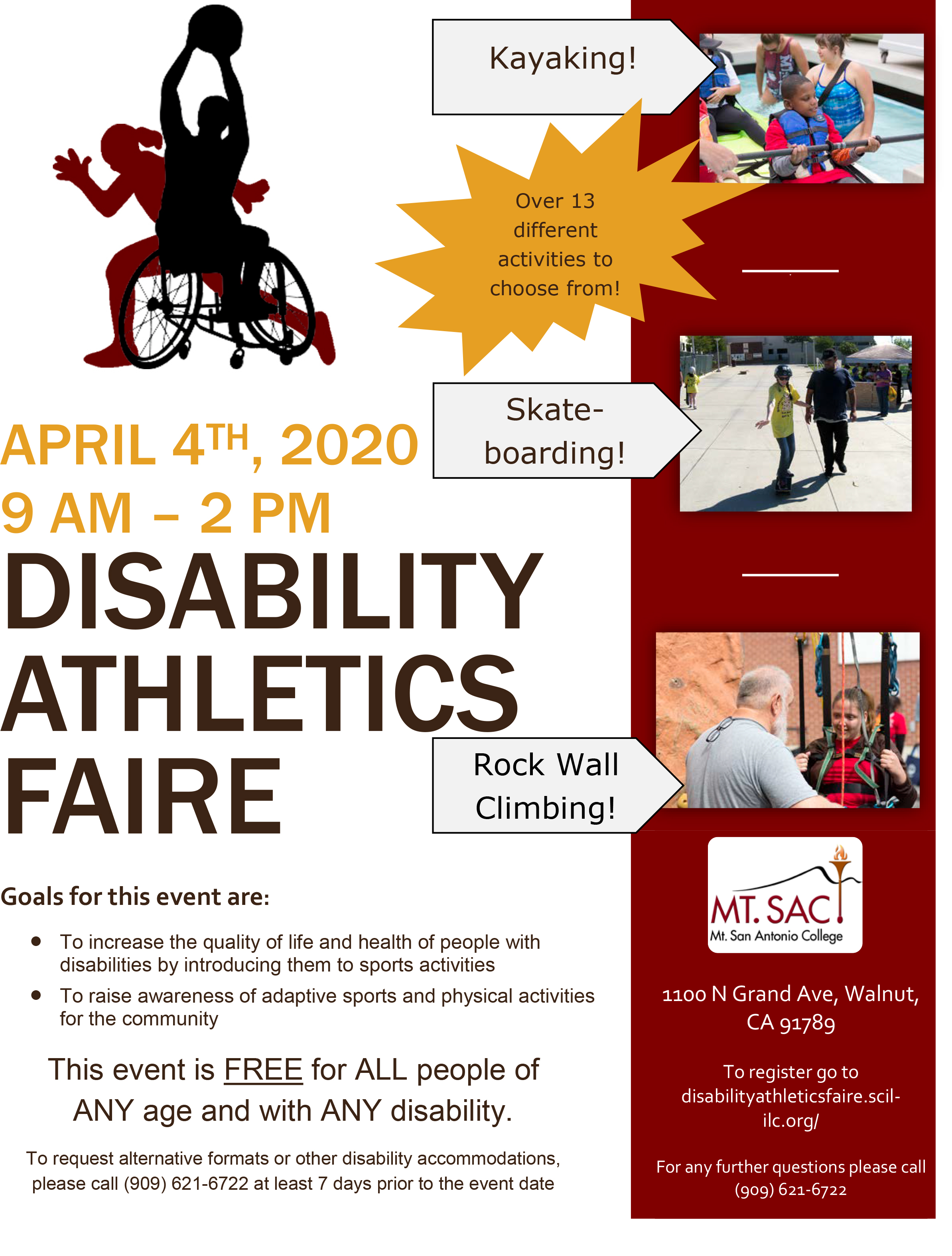 The 5th Annual Disability Athletics Faire