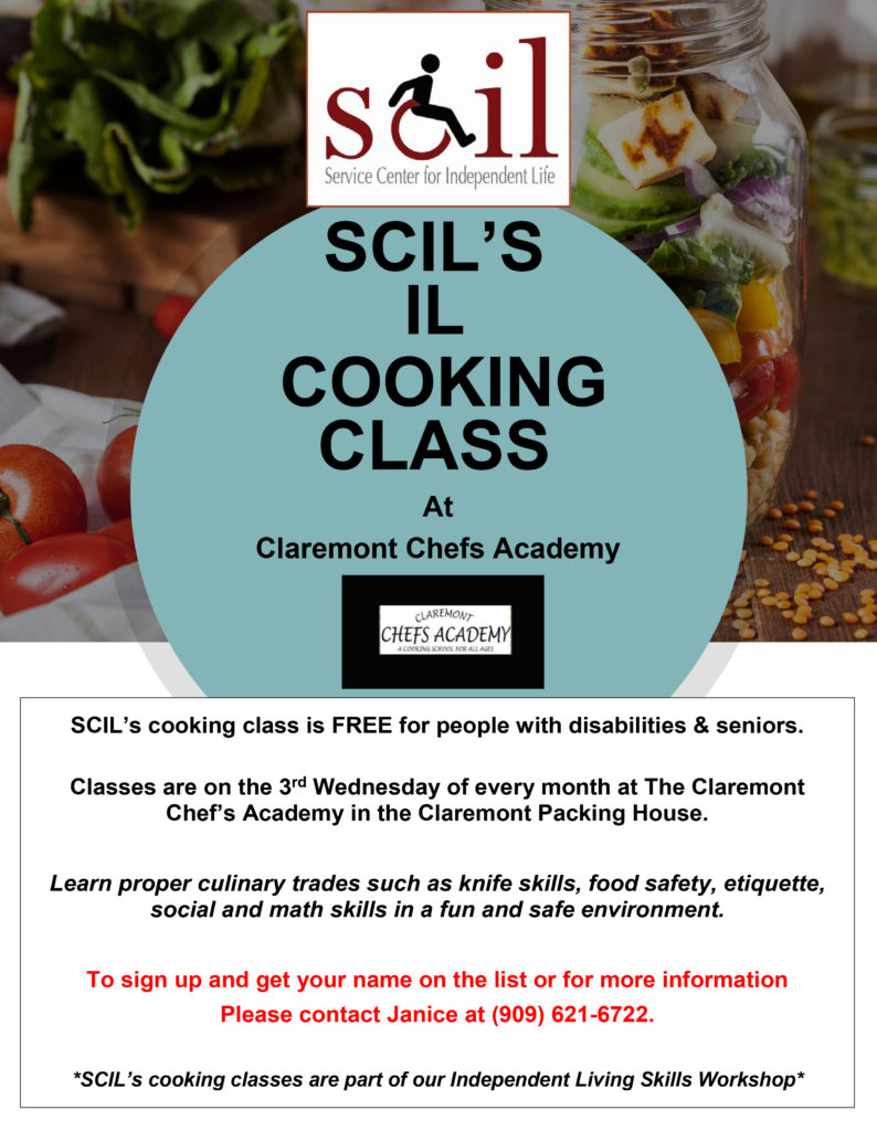 cooking class - 3rd wednesday of every month - call janice for more info - (909) 621-6722
