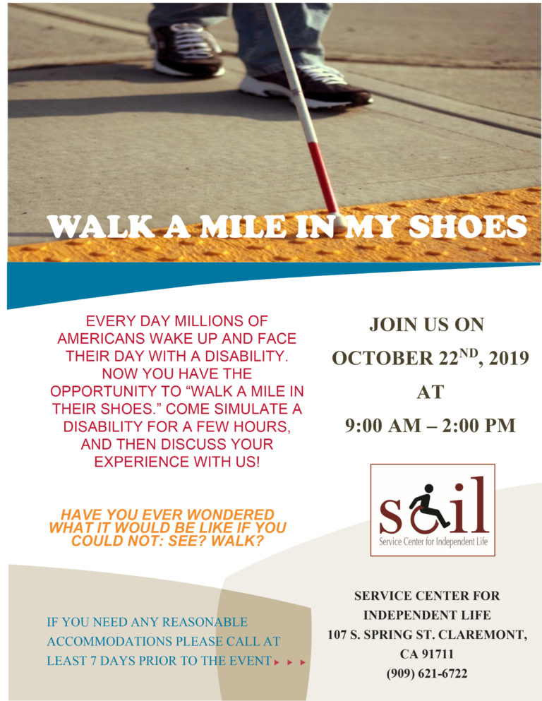 Walk a Mile in My Shoes - October 22nd, 2019 9 AM to 2 PM