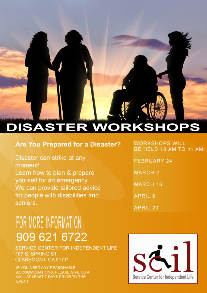 Disaster Workshops call for dates